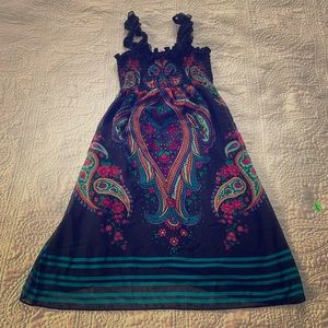Black and paisley dress by Buffalo David Britton